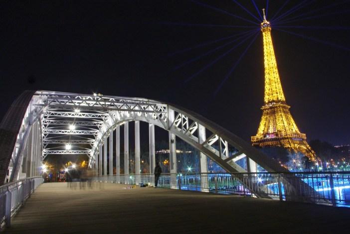 Passerelle Debilly Seine Tour Eiffel Paris