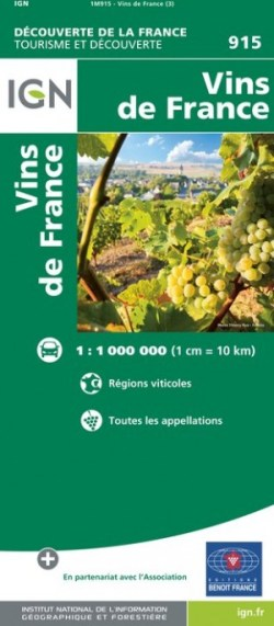 carte des vins de France IGN