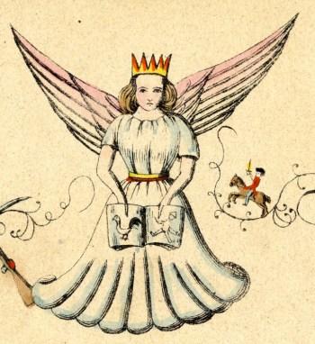 Le Christkindel d'après une image de 1845