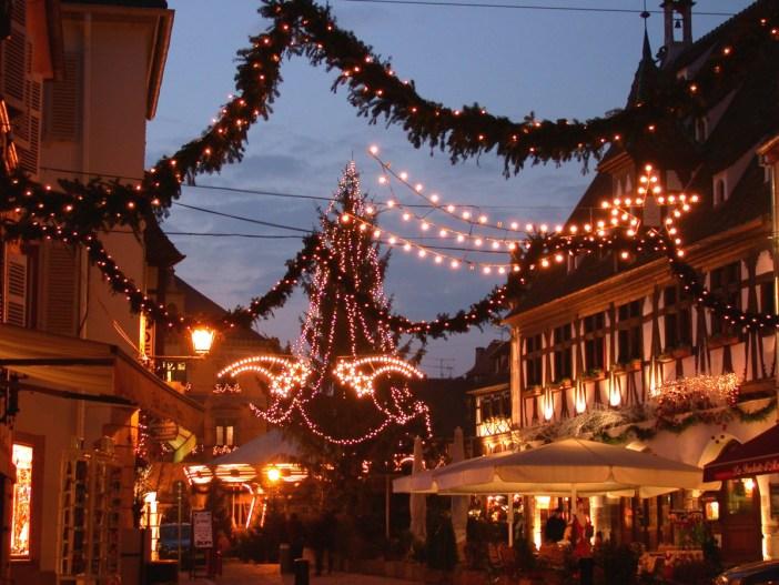 Illuminations de Noël à Obernai © Office de Tourisme d'Obernai