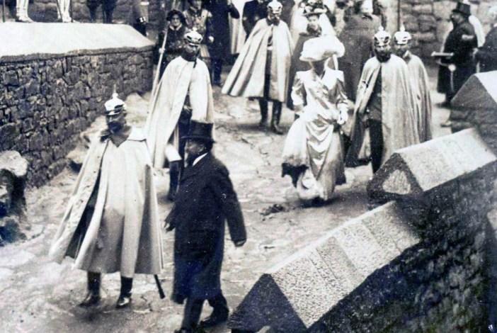 La visite de Guillaume II au Haut-Kœnigsbourg en 1908