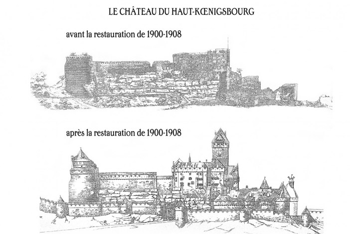 Haut-Kœnigsbourg Avant Apres by French Moments