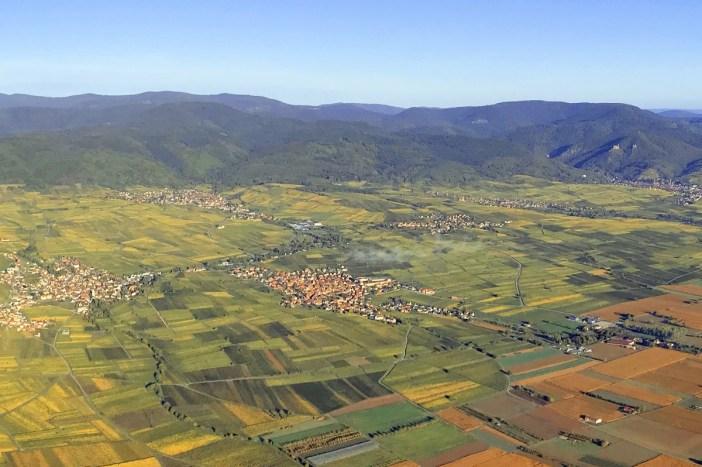 Village de Beblenheim vu du ciel © Arnaud Fuchs