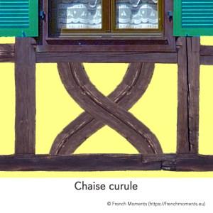 Allège d'une fenêtre. Chaise curule, maison alsacienne © French Moments