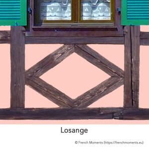 Allège d'une fenêtre. Losange, maison alsacienne © French Moments