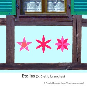 Etoiles à 5, 6 et 7 branches © French Moments