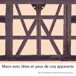 Mann avec têtes et yeux de coq apparents © French Moments