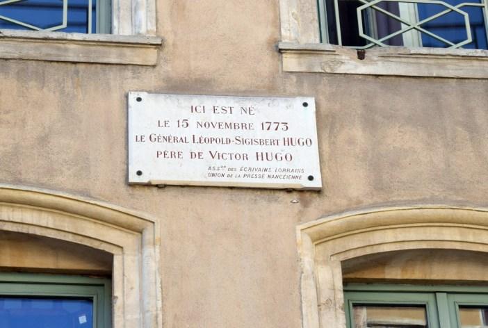 Lieu de naissance du père de Victor Hugo, rue des Maréchaux, Nancy © French Moments