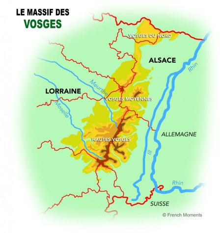 Carte du Massif des Vosges © French Moments