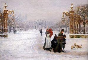 Place de la Carrière, peinture de Léon Voirin (années 1880)