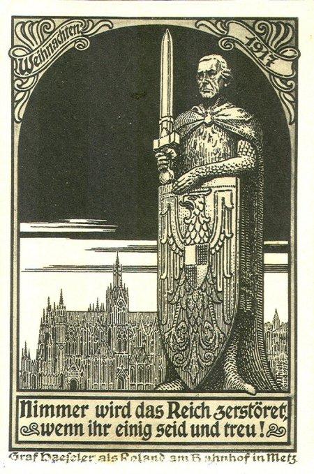Roland sous les traits de Haeseler 1917