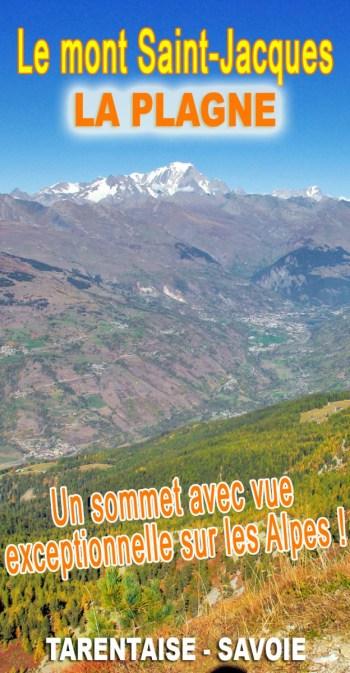 Découvrez la vue exceptionnelle sur les Alpes du sommet du mont Saint-Jacques (La Plagne) © French Moments