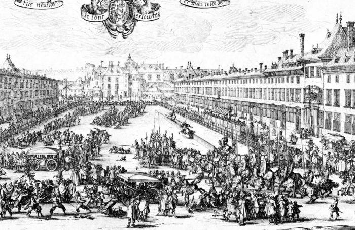 place de la Carrière au 17e siècle