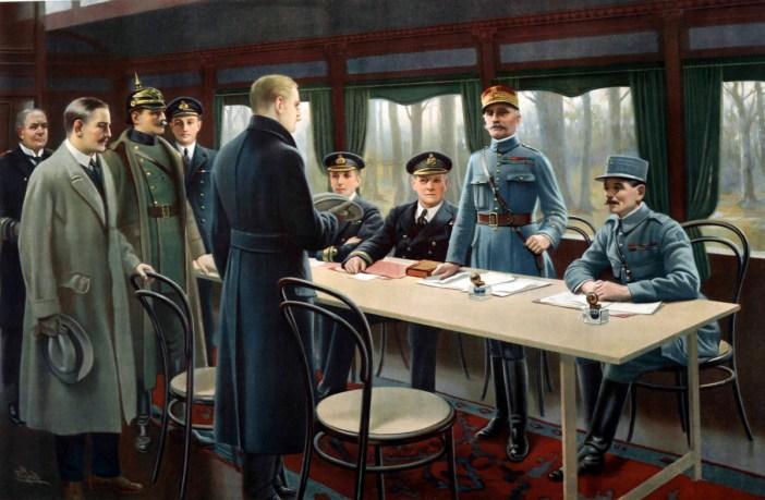 Signature de l'armistice de 1918 à Rethondes