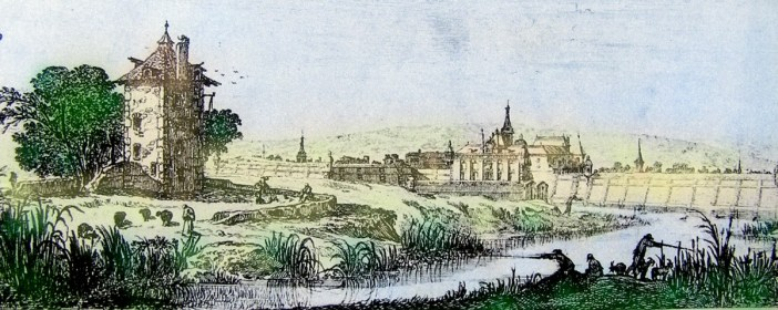 L'étang Saint-Jean devant la Ville Neuve de Nancy en 1640. Gravure d'Israël Silvestre
