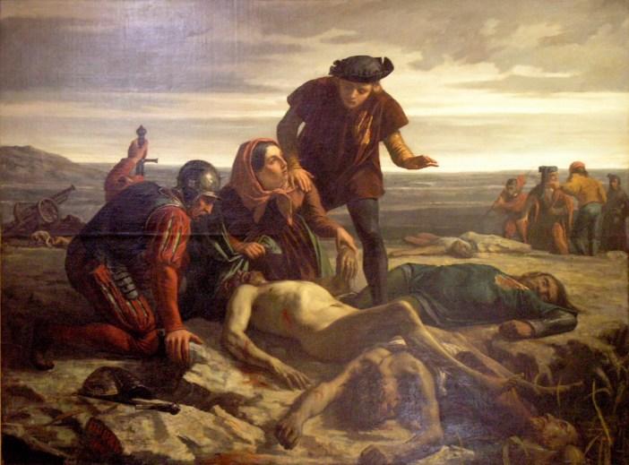 La Mort de Charles le Téméraire devant Nancy par Charles Houry (1852)