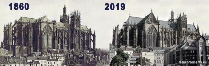 La cathédrale de Metz en 1860 et en 2019 by French Moments