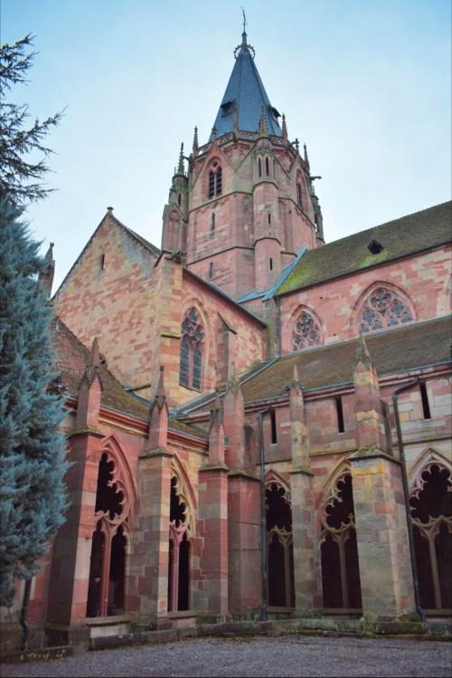 La tour de la croisée du transept de l'abbatiale de Wissembourg © French Moments