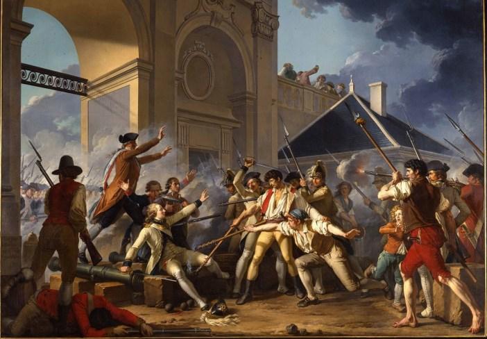 Le Courage héroïque du jeune Désilles, le 31 août 1790, à l'affaire de Nancy - Peinture de Jean-Jacques Le Barbier