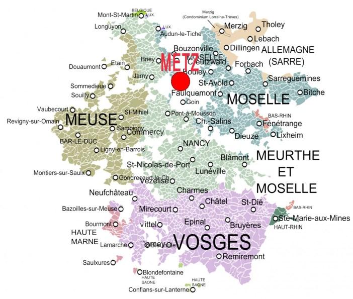 Nancy-Metz - Les duchés de Bar et de Lorraine © Oie Blanche - licence [CC BY-SA 3.0] from Wikimedia Commons