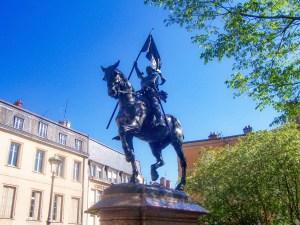 La statue équestre de Jeanne d'Arc à Nancy (place La Fayette) © French Moments