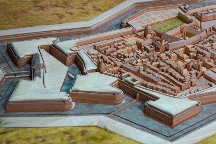 Plan-relief de la vieille-ville de Nancy au Moyen-Age