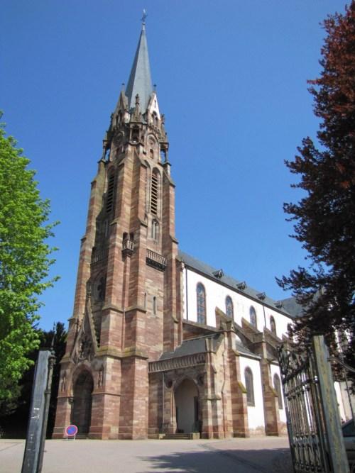 L'église Saint Maurice à Mutzig © Ralph Hammann - licence [CC BY-SA 4.0] from Wikimedia Commons