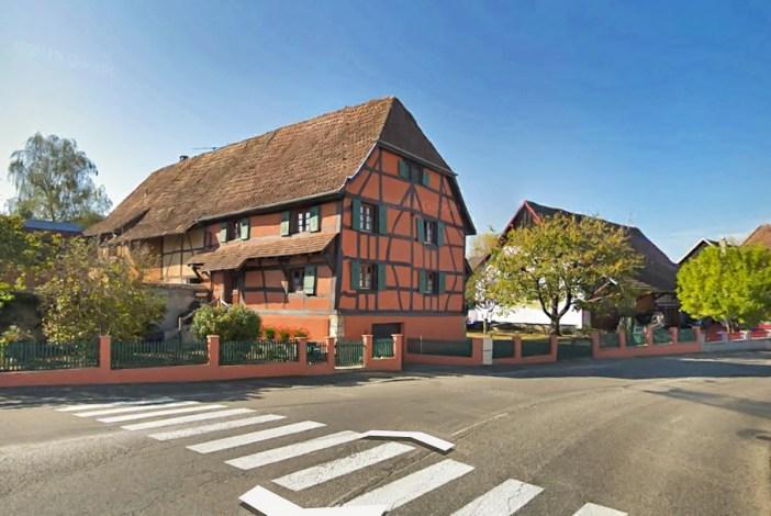 La plus vieille maison à colombages d'Alsace - impression écran de StreetView © 2020 GeoBasis-DE/BKG © 2020 Google