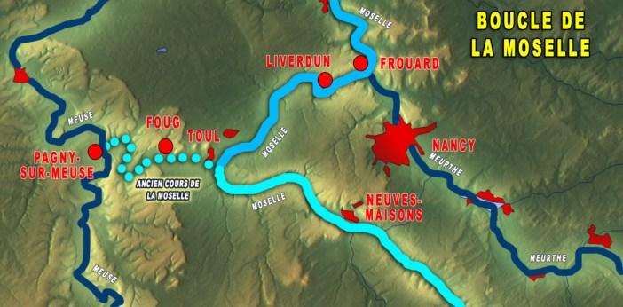 Carte de la Boucle de la Moselle
