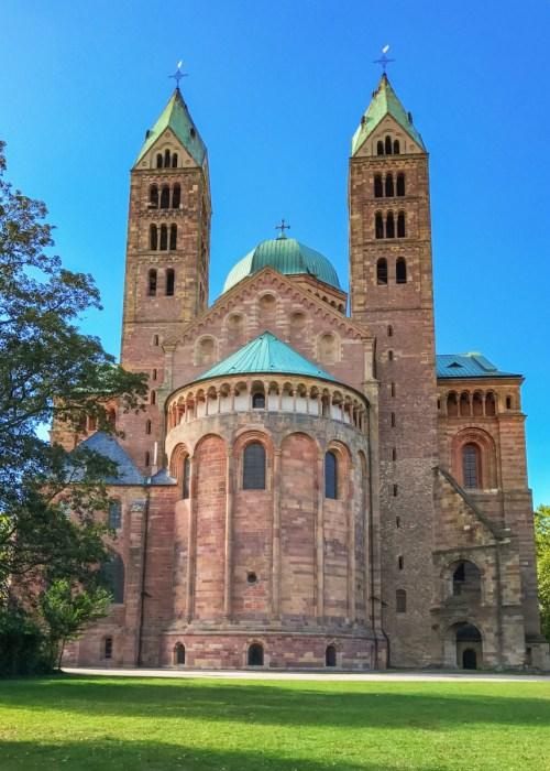 Le chevet de la cathédrale de Spire © dronepicr - licence [CC BY 2.0] from Wikimedia Commons