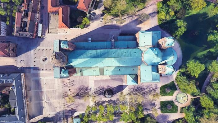 La cathédrale de Spire vue du ciel © Google Earth