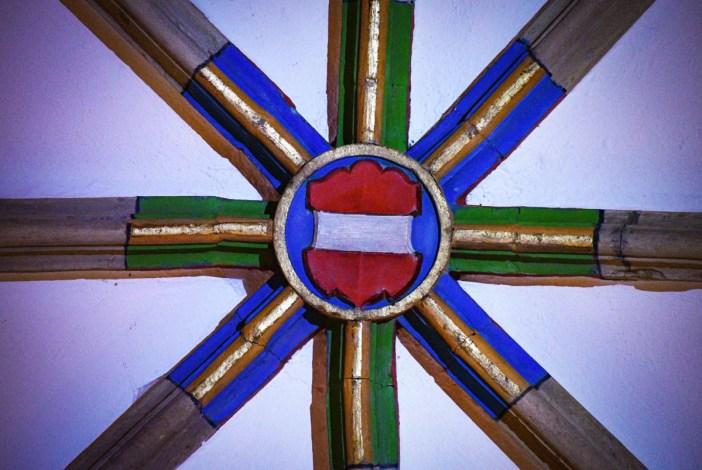 Habsbourg à Thann - le blason de l'Autriche en clé de voûte © French Moments