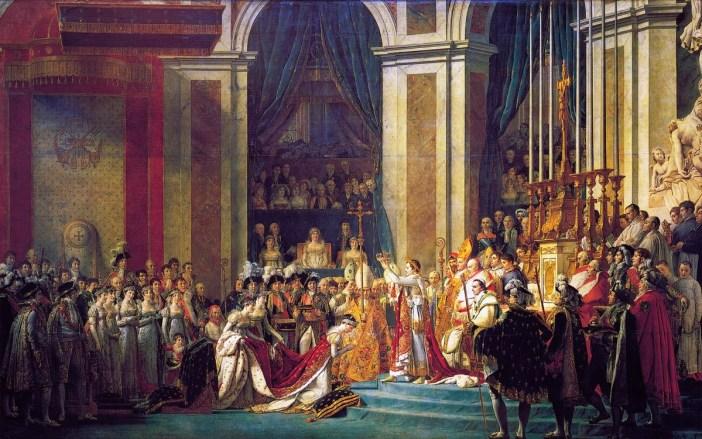 Le Couronnement de Napoléon dans la cathédrale. Peinture par Jacques-Louis David