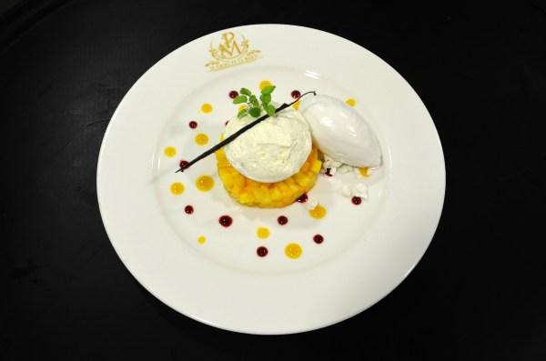 Vacherin exotique, sorbet coco, dessert, camille payan, palais de la major