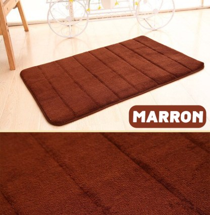 tapis de bain antiderapant MARRON