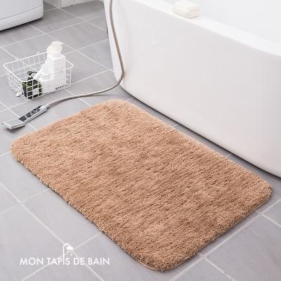 tapis de bain coton doux couleur champgne