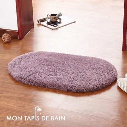 tapis de bain memoire de forme violet