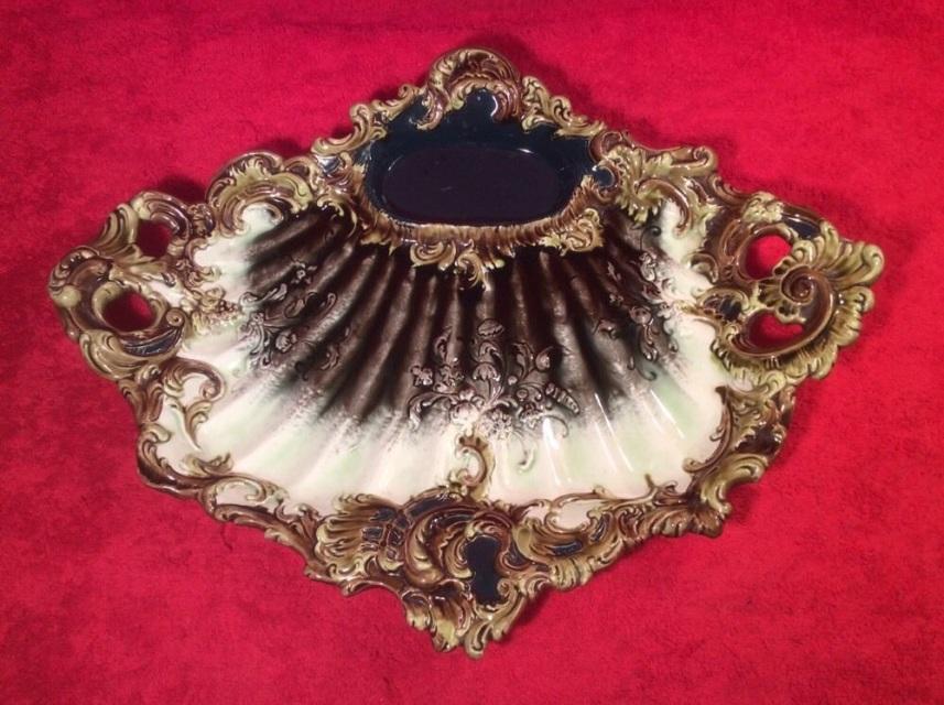 Antique Rococo Majolica Platter Tray C.1888-1900, Gm962