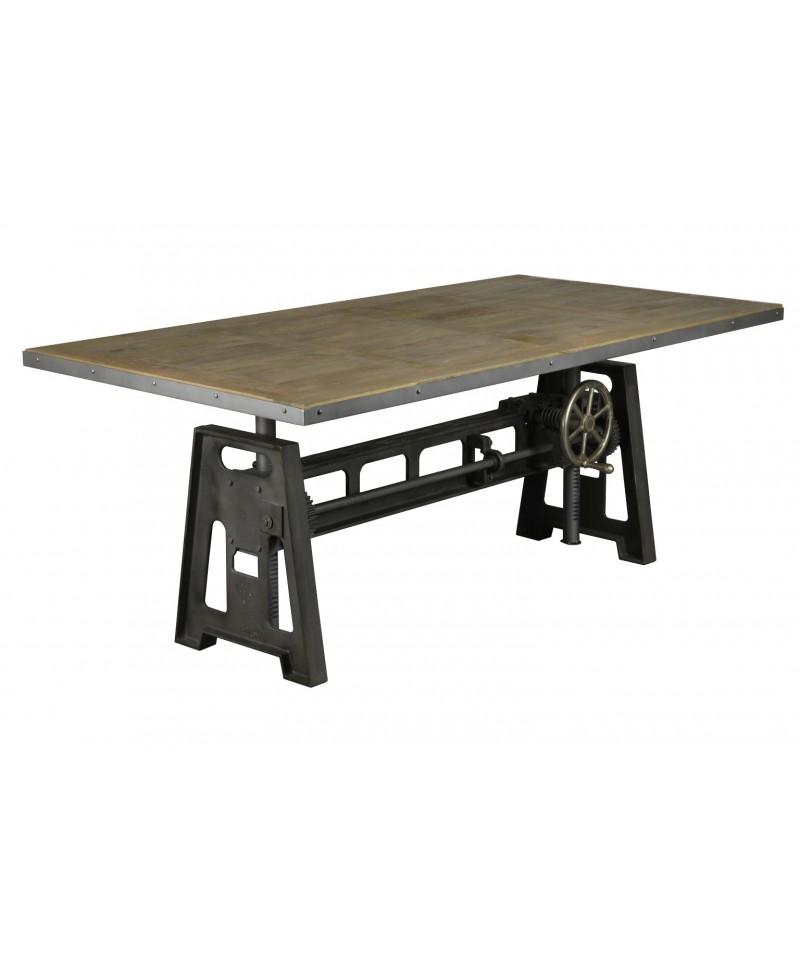 edison table de salle a manger 200 cm industriel monachatdeco com