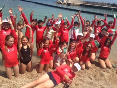 Monte Carlo - gli alunni delle scuole monegasche partecipano alla giornata « Water Safety » organizzata dalla Fondazione Principessa Charlene di Monaco