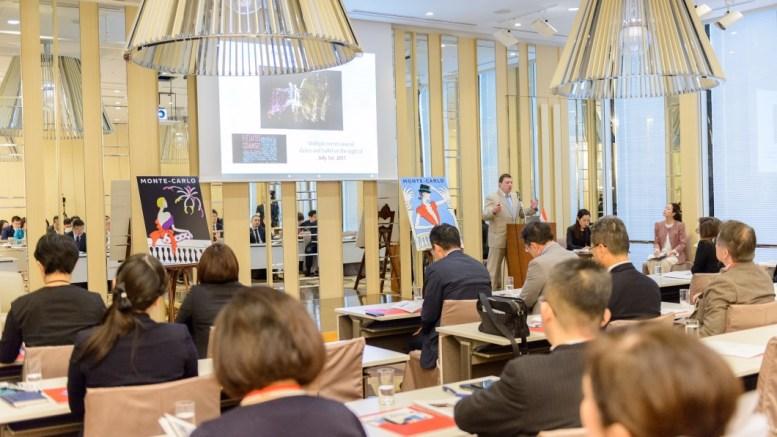 La delegazione della Direzione del Turismo e dei Congressi di Monaco in Giappone per la promozione della destinazione Monaco. Ft©Dir. de la Communication