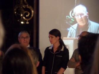 Charlotte Casiraghi, presidentessa degli Incontri filosofici di Monaco, nel corso della seconda edizione.