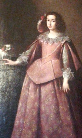 Cani a corte: nobildonna con cane - Genova Palazzo Reale