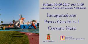 Ventimiglia ha un nuovo Parco Giochi, intitolato al Corsaro Nero