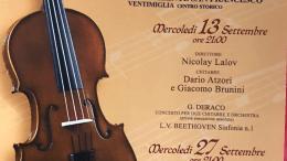 Ventimiglia: Preludi D'Autuno Con L'Orchestra Sinfonica Di Sanremo