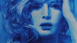 """Nizza: Settimana della lingua Italiana nel mondo, il ritratto di Monica Vitti di Mauro Maugliani nell'esposizione """"Polvere di Stelle"""""""