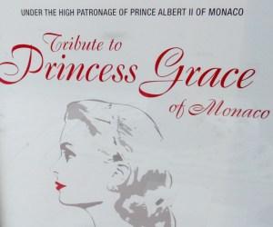 Monaco, il manifesto stradale del Tributo alla Principessa Grace, proiezione di film al Teatro Princesse Grace di Monaco