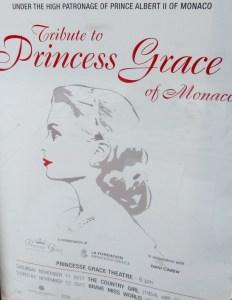 Monaco, il manifesto stradale dell'iniziativa Tributo alla Principessa Grace con la proiezione dei film The Country Girl e Brave Miss World