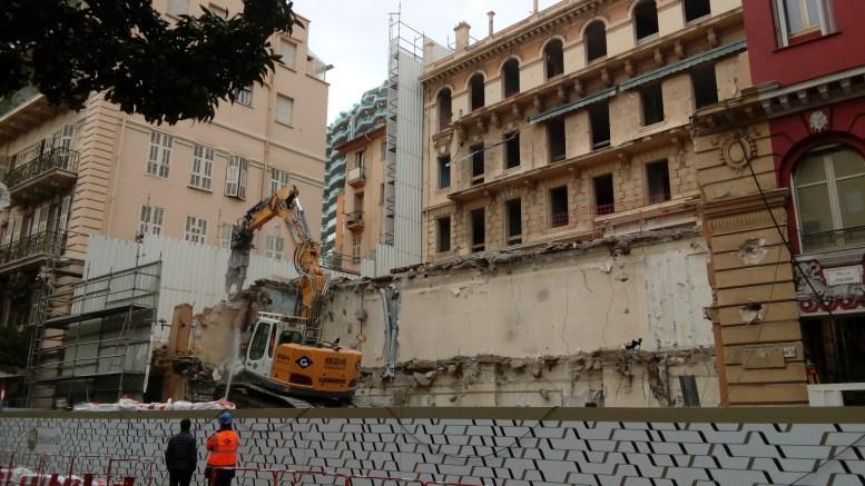 Lavori in corso in Rue Grimaldi a Monaco Ft©GMD