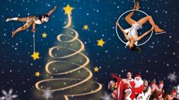 Lo Spettacolo Follie di Natale sul Ghiaccio sul Porto di Monaco